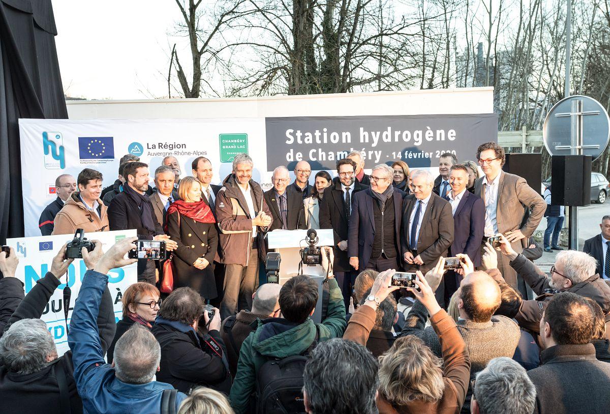 Inauguration de la première station hydrogène renouvelable à Chambéry