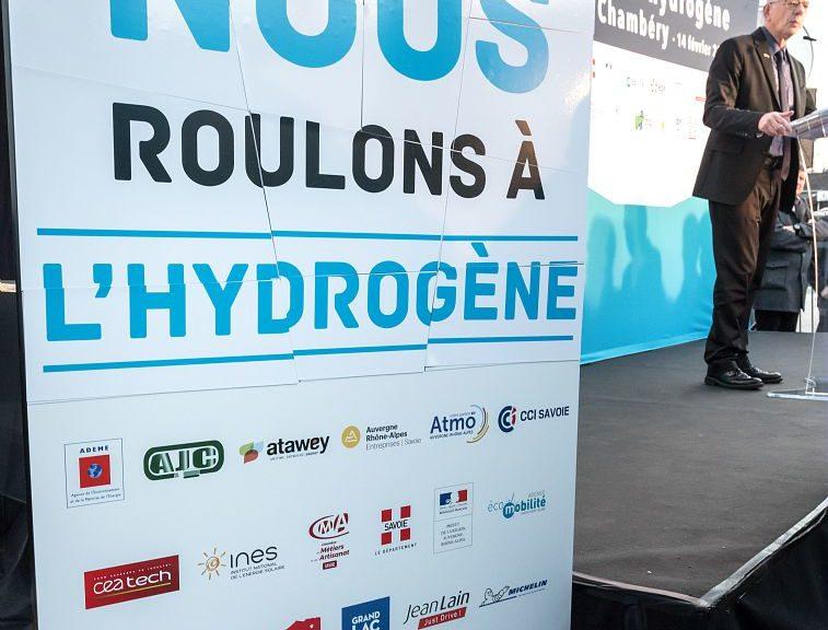 Inauguration de la 1ere station de recharge hydrogene, projet : Zero Emission Valley