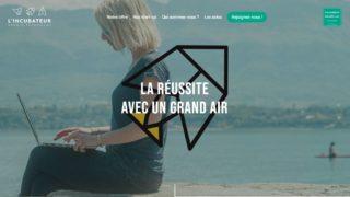 Capture page d'accueil site internet incubateur Savoie Technolac