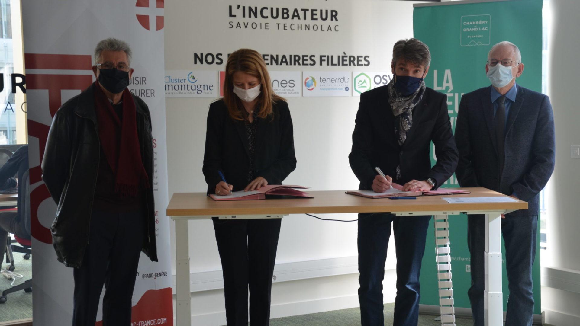 Chambéry–Grand Lac économie et l'IPAC officialisent leur partenariat en faveur de l'entrepreneuriat