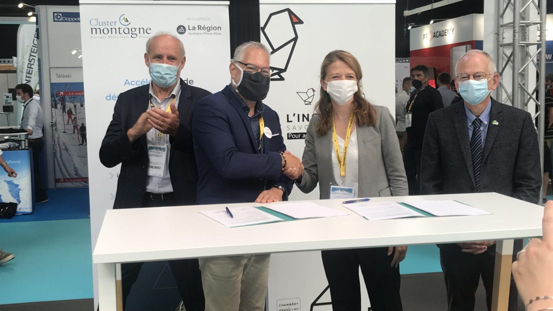 L'incubateur Savoie Technolac et le Cluster Montagne renouvèlent leur partenariat en faveur de la création d'entreprises
