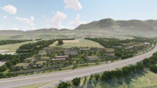 """Vue du futur parc d'activités """"Les Sources"""